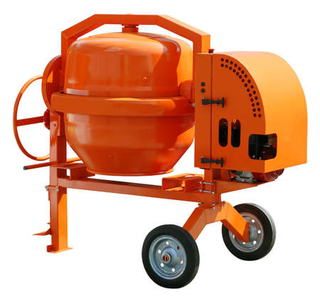Concrete mixer isolated with clipping path photo