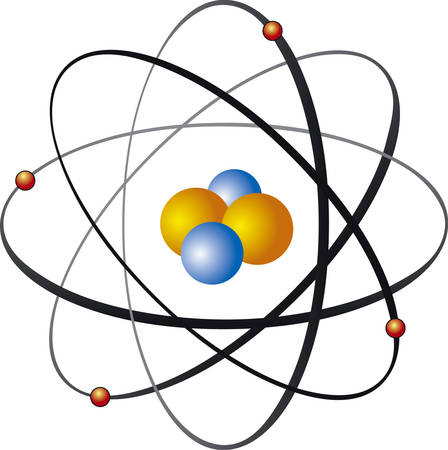 Vector illustration of atom nucleus Stock Vector - 5762973