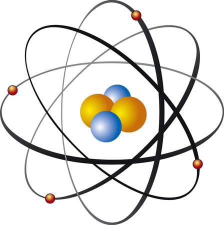 metaphysics: Vector illustration of atom nucleus Illustration