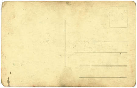 vintage postcard background isolated on white  Stock Photo
