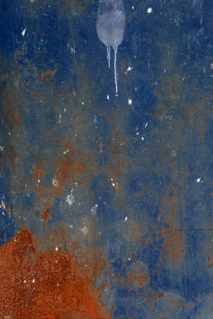 blue painted rusty old industrial metal background Stock Photo - 10891254