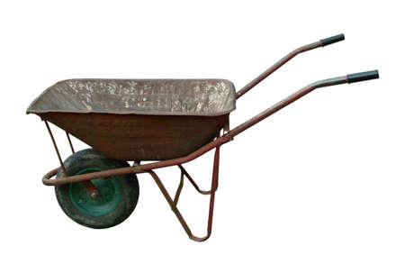 carretilla: de edad utiliza carretilla oxidada vendimia