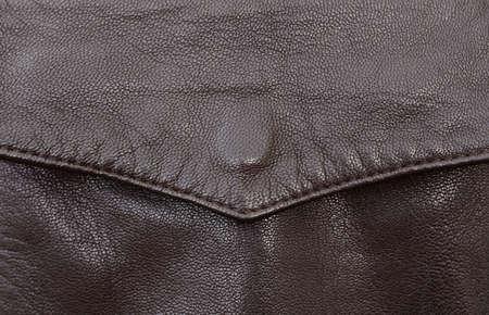 brown leather jacket pocket detail