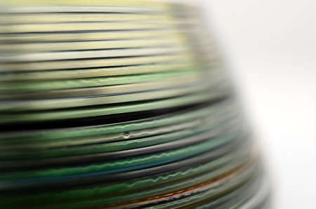 compact: abstract colorful compact discs closeup macro shallow focus detail