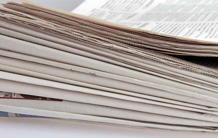 closeup of newspaper stack for backgrounds Stock Photo - 8921030