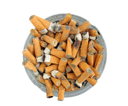 ashtray full of cigarette butts Stock Photo - 9440032