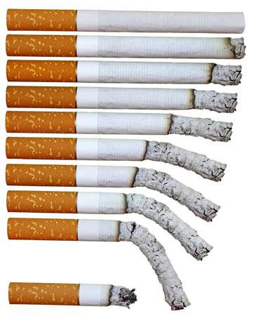 fumando: fases de cigarrillos para fondos de iluminado