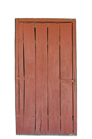 isolated old wooden door on white photo