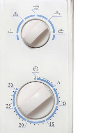 microwave oven: detalle de pomos de horno de microondas