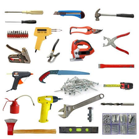 wide range of tools on white Stock Photo - 9796969