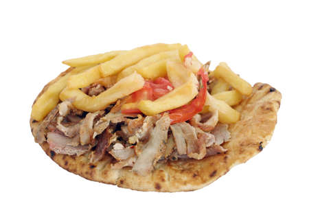 gyros: gyros on pita bread Stock Photo