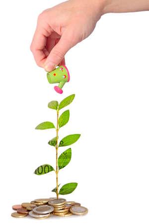 planificación familiar: crecimiento de dinero