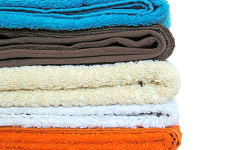 stack of colorful towels  photo