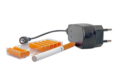 electronic cigarette with parts isolated