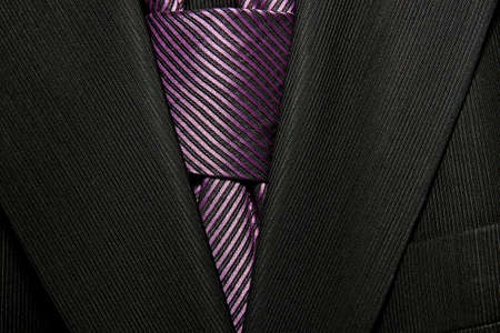 menswear: jacket with purple tie