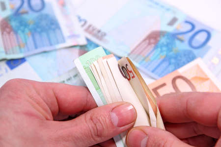 hand counting money Stock Photo - 12416045