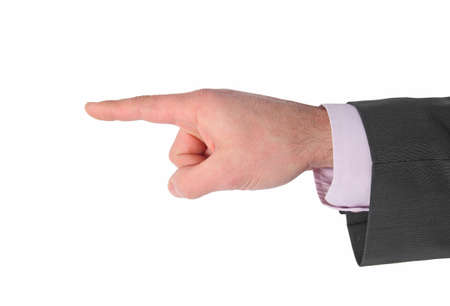 businessman pointing Stock Photo - 12416053