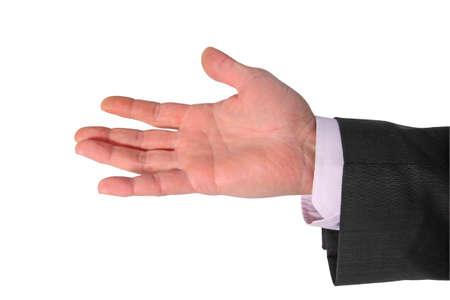 open palm on white photo