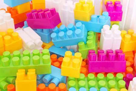 jumbled plastic blocks  photo