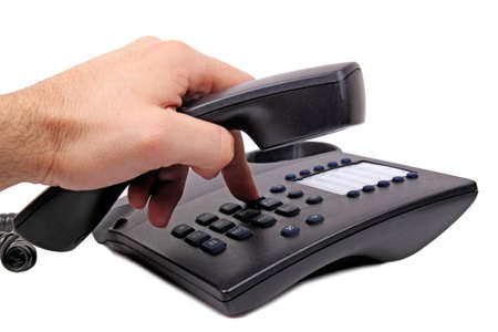 dialing: hand dialing a number