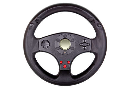 toy steering wheel isolated photo