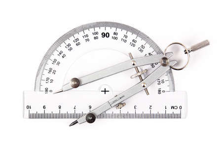 compass on protractor photo