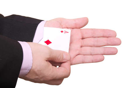 pulling out a hidden ace from the sleeve