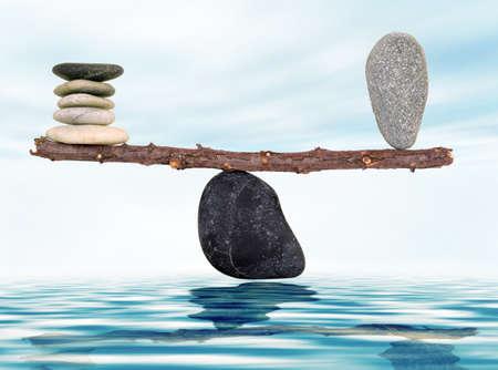 Harmonie und Ausgeglichenheit Standard-Bild