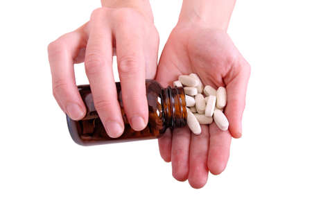 overdose: overdose of pills in woman