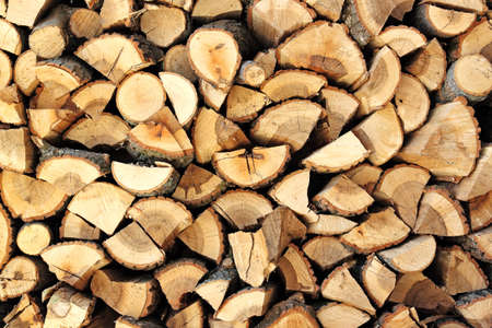 pile of logs: pile of firewood logs Stock Photo