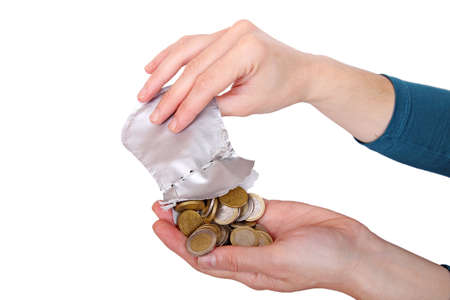 woman is counting her savings Stock Photo - 15899729