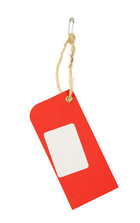 red price tag isolated on white Stock Photo - 17730236