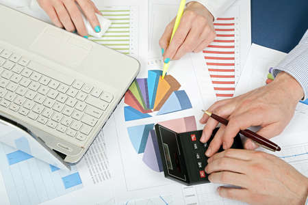calculations at the office Stock Photo - 17892086