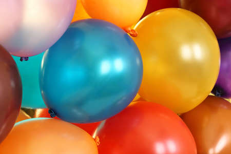 variety of colorful balloons photo