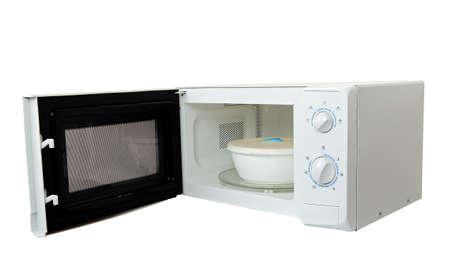 microwave oven: horno microondas con plato aislado Foto de archivo