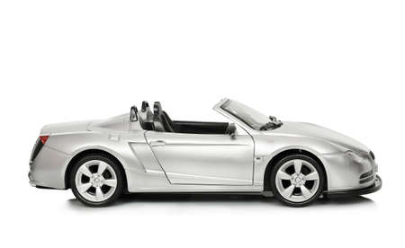 convertible toy car on white photo
