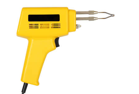 solder: solder gun isolated on white