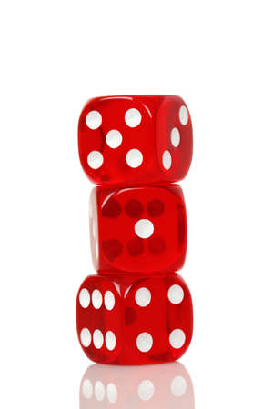 double the chances: three red dice against white