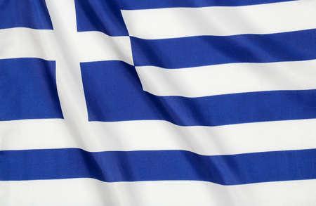 greek flag: wavy flag of greece