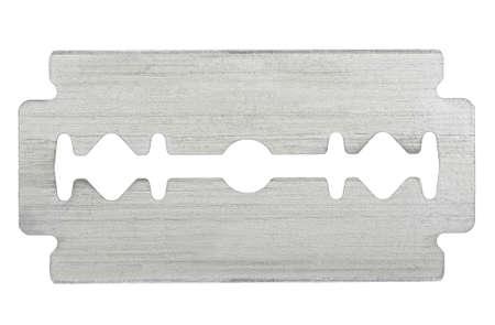 retro razor blade on white photo