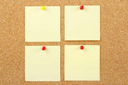 corkboard: post it notes on corkboard
