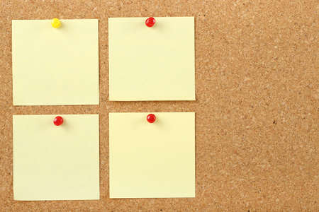 post it notes on corkboard Stock Photo - 19481743