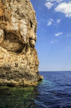 huge rock in the sea  Stock Photo - 21192852