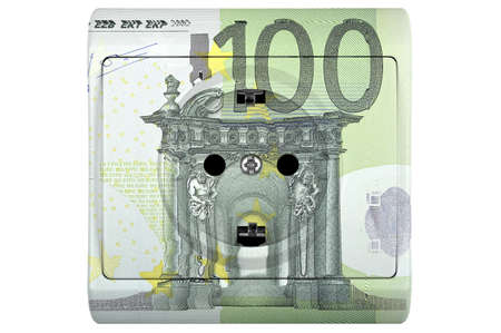 one hundred euro banknote: socket with one hundred euro banknote