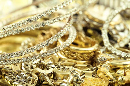 macro of elegant jewelry photo