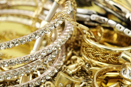 image of elegant jewelry closeup photo