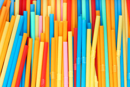 closeup of drinking straws for backgrounds photo