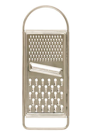 cheese grater: metal grater isolated on white Stock Photo