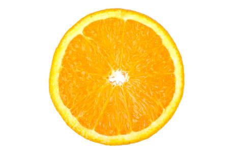 orange slice: orange slice isolated on white