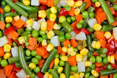 macro of mixed vegetables for background use photo